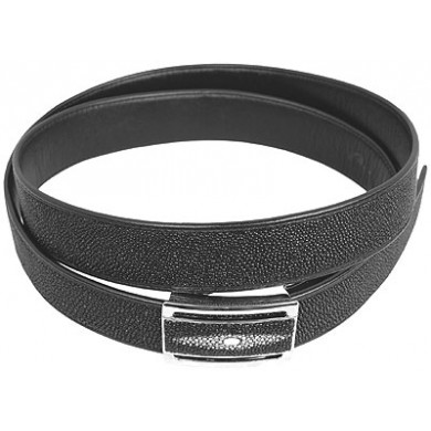 Genuine stingray leather belt 102RRB Black