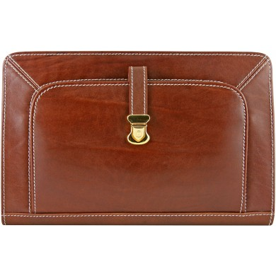 Genuine buffalo leather bag BGB134 Brown