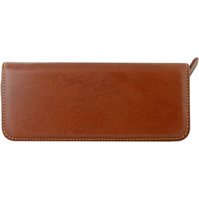 Genuine buffalo leather pen case BPC01 Brown
