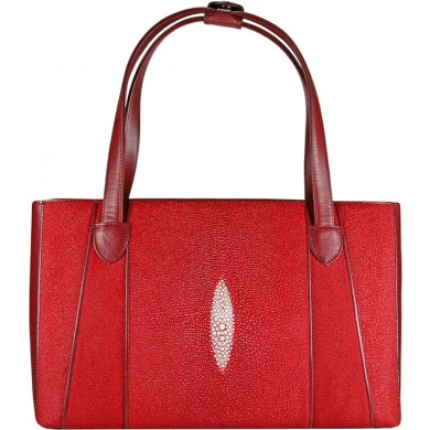 Genuine stingray leather bag BR78 Fire Red