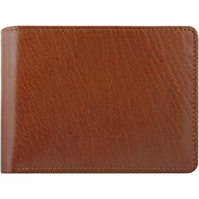 Genuine buffalo leather wallet BW10 Brown
