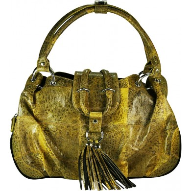 Genuine frog / toad leather bag FROGBAG01 Yellow