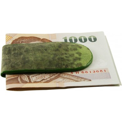 Genuine frog / toad leather money clip FROGMCLIP01 Green