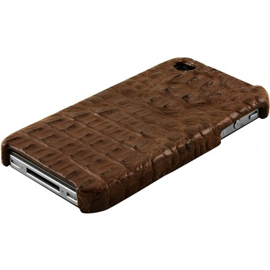Genuine alligator leather iPhone 4 / 4S case IPHONE4-AL25HB Brown