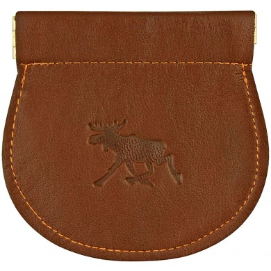 Genuine moose leather coin purse MOOSECP462A Brown