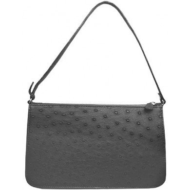 Genuine ostrich leather bag OSBAG001 Black