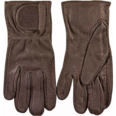 Genuine peccary leather gloves PECGL01 Brown