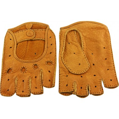 Genuine peccary leather gloves PECGL03 Tan
