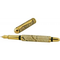 Alligator bone fountain pen ALPEN02-GT