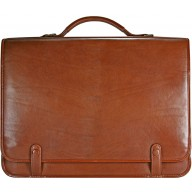 Genuine buffalo leather briefcase BBR095 Brown