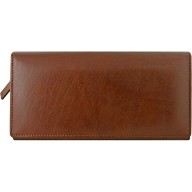 Genuine buffalo leather wallet BW15 Brown