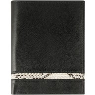 Genuine cow / python leather wallet CPTW01 Black / Natural