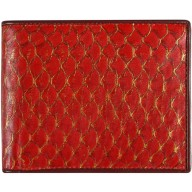 Genuine fish leather wallet FSW001 Red