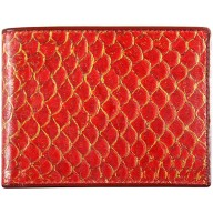 Genuine fish leather wallet FSW003 Red
