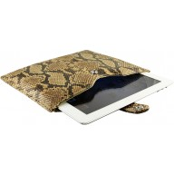 Genuine python leather iPad 2 / iPad 3 sleeve IPAD2-3-SL01PT Caramel