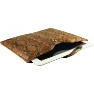 Genuine python leather iPad 2 / iPad 3 sleeve IPAD2-3-SL01PT Creamy