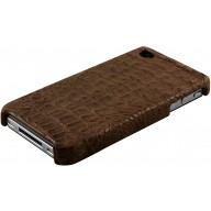 Genuine alligator leather iPhone 4 / 4S case IPHONE4-AL28MD Brown