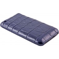Genuine crocodile leather iPhone case IPHONE-SC20B Midnight Blue