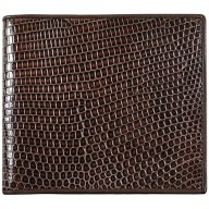 Genuine lizard leather wallet LWUS001 Brown