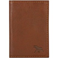 Genuine moose leather card case MOOSECC407 Brown