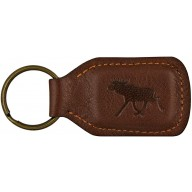 Genuine moose leather key ring MOOSEKH434B Brown