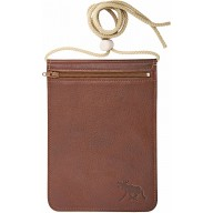 Genuine moose leather neck wallet MOOSENW400 Brown
