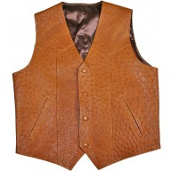 Genuine ostrich leather vest OSVEST001