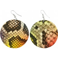 Genuine python leather earrings PTER51 MC