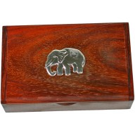 Rosewood with sterling silver inlay box RWBOX001