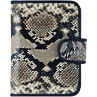 Genuine python leather card holder SNCC001PT Natural