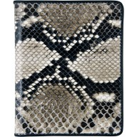 Genuine python leather card holder SNCC004PT Natural