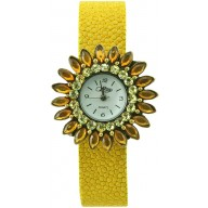 Fashion watch & stingray leather watch band STWAB1840-3 Yellow