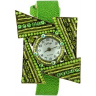 Fashion watch with stingray leather watch band STWAB2081 Green