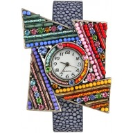 Fashion watch with stingray leather watch band STWAB2081 Violet