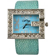 Fashion watch with stingray leather watch band STWACT01 Sky Blue