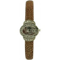 Fashion watch with stingray leather watch band STWACT07 Cognac