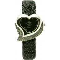Fashion watch with stingray leather watch band STWACT11 Black