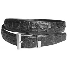 Genuine alligator leather belt 102CKP Black