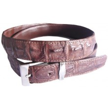 Genuine alligator leather belt 102CKP Brown