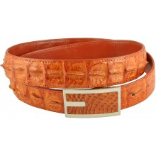 Genuine alligator leather belt 102CKP-PL Tan
