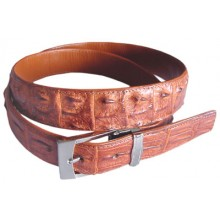 Genuine alligator leather belt 102CKP Tan