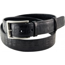 Genuine alligator leather belt 102CM2 Black