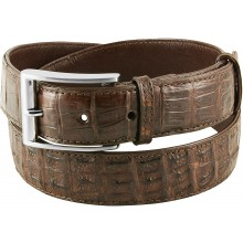 Genuine alligator leather belt 102CM2 Brown