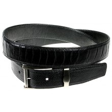 Genuine ostrich leather belt 102OS Black