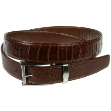 Genuine ostrich leather belt 102OS Brown