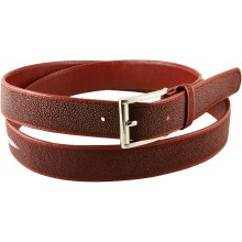 Genuine stingray leather belt 102RP Burgundy