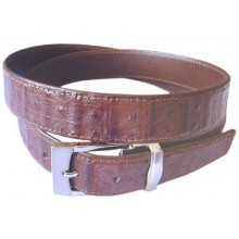 Genuine alligator leather belt 102SMT Brown