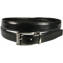 Genuine snake leather belt 102SN Black