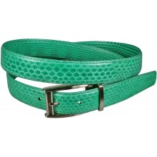 Genuine snake leather belt 102SN Green