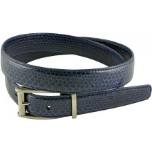 Genuine snake leather belt 102SN Midnight Blue